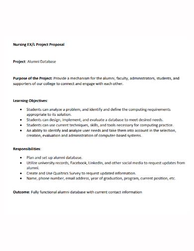nursing database project proposal