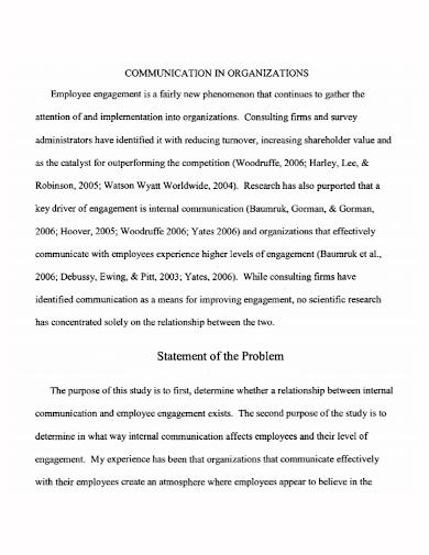organization communication problem statement