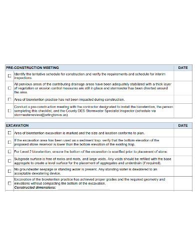 printable construction inspection checklist
