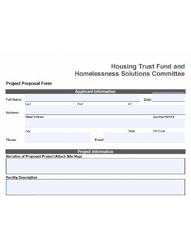 printable housing project proposal