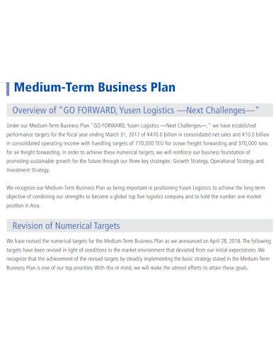 printable logistics business plan