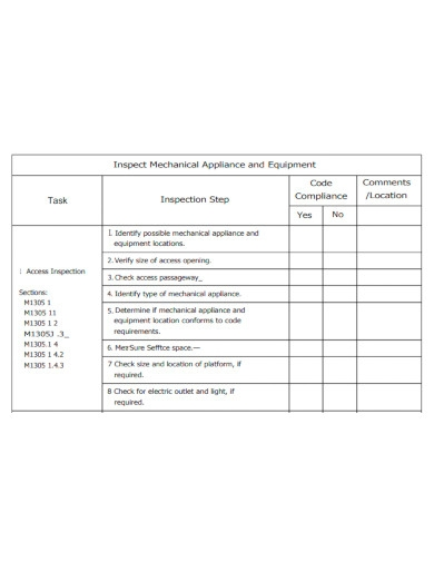 printable machine inspection checklist
