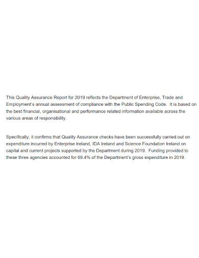 printable quality assurance report