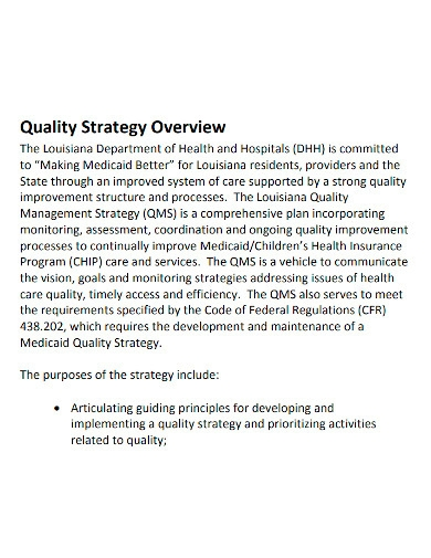 printable quality management strategy