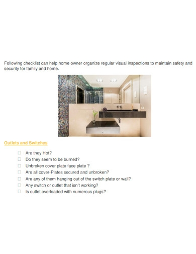 professional electrical inspection checklist