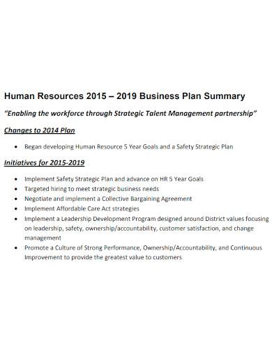 professional hr business plan