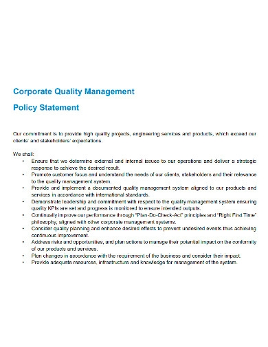 professional quality management strategy