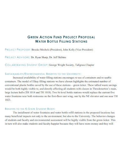 professional water project proposal