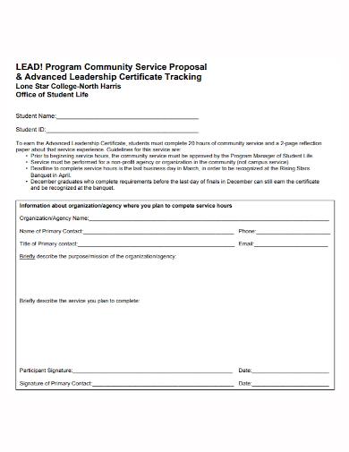 program community service proposal