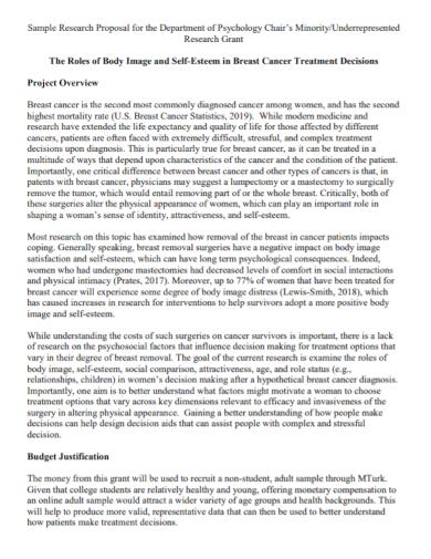 psychology research grant proposal