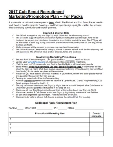 recruitment marketing promotion plan