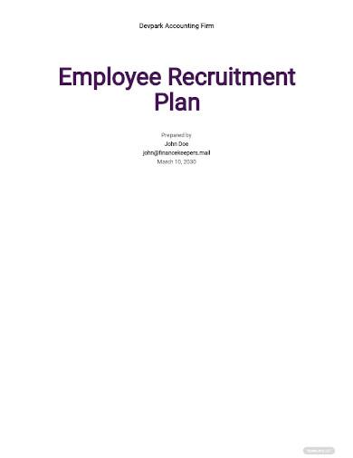 recruitment small business plan