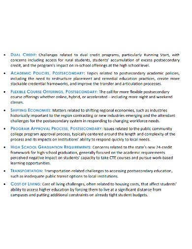 regional educational needs assessment