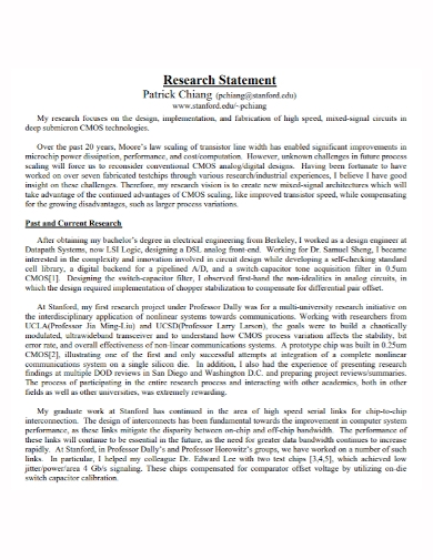 research design implementation statement