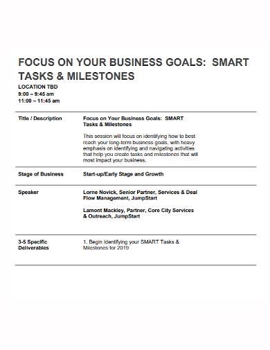 smart task business goals