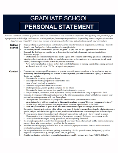 sample grad school personal statement