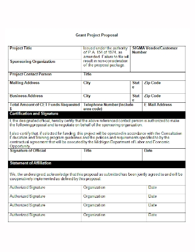 sample grant project proposal