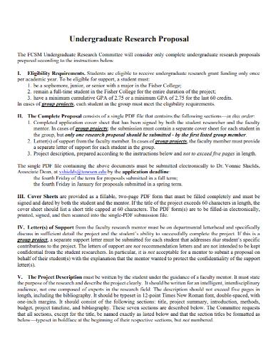 sample undergraduate research proposal