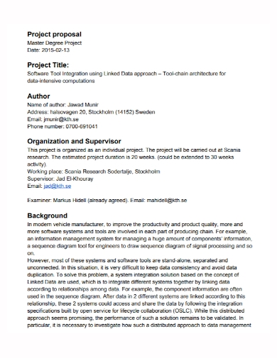 software title project proposal
