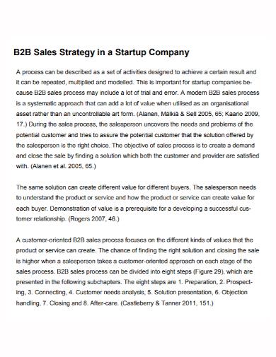 startup company b2b sales strategy