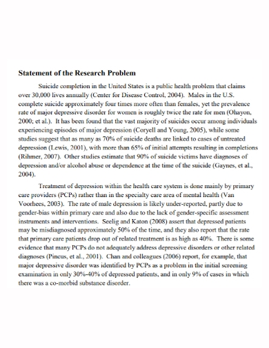 statement of research problem