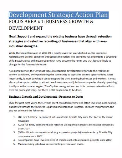 strategic development business action plan