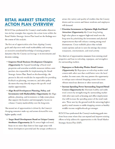 strategic retail market business action plan