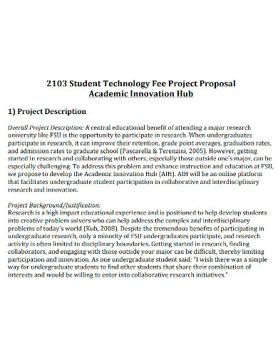 student academic project proposal