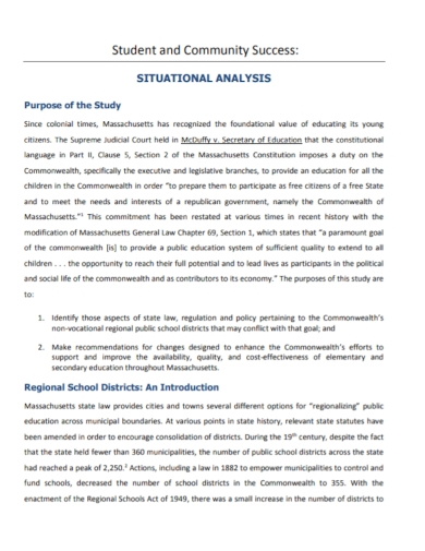 student community situational analysis