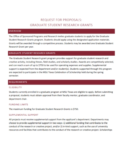 student research grant proposal