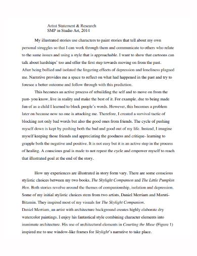 studio artist research statement