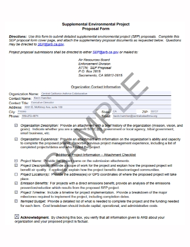 supplemental environmental project proposal form