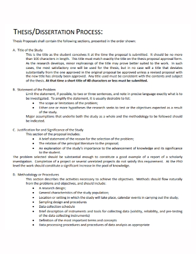 thesis dissertation problem statement