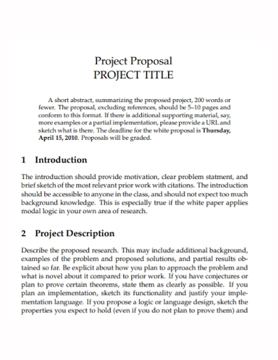 title project proposal