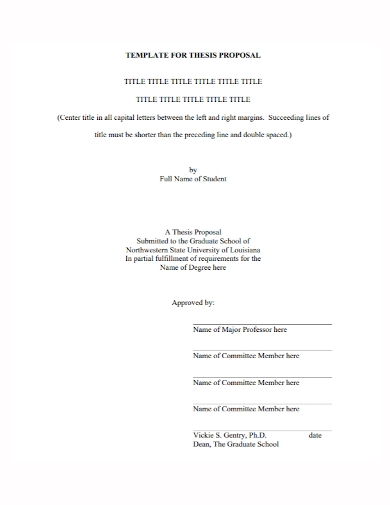 title thesis proposal