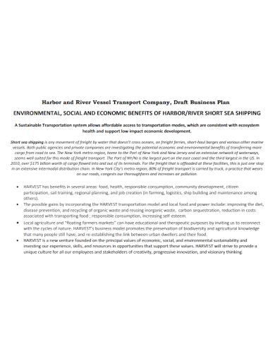 transportation company business plan