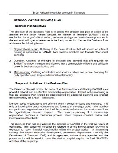 transportation methodology business plan