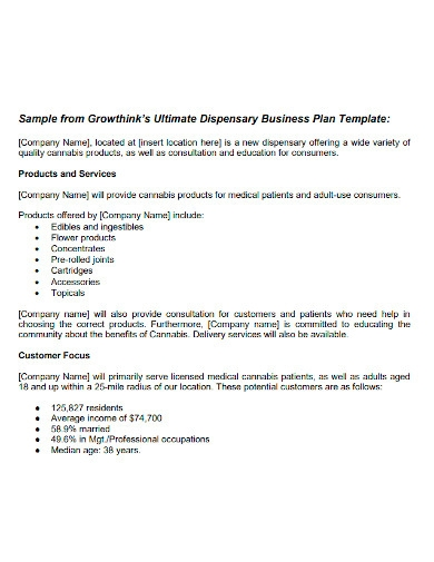 ultimate dispensary business plan
