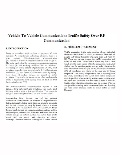 vehicle communication problem statement