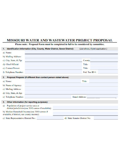 waste water project proposal