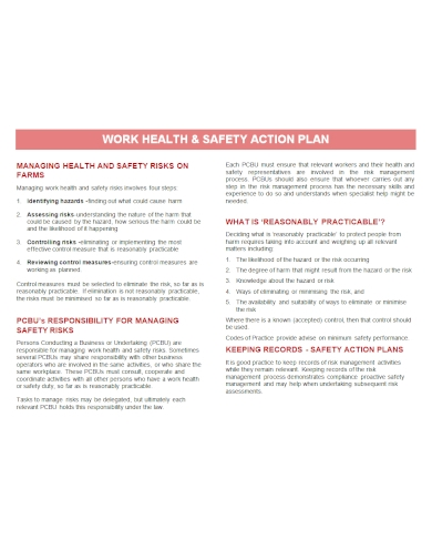 work health and safety action plan