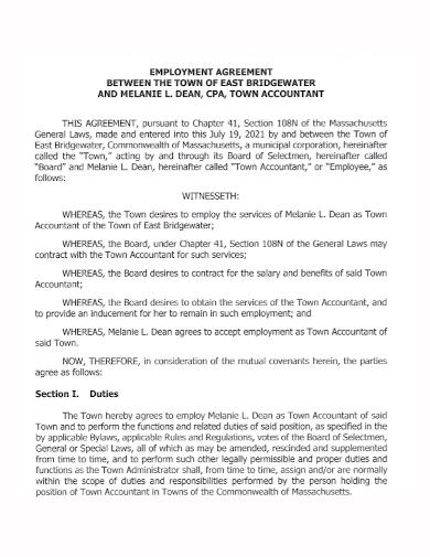 accountant employment agreement