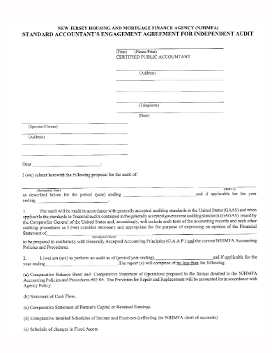 accountant engagement agreement