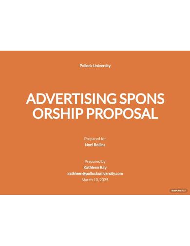 advertising sponsorship proposal