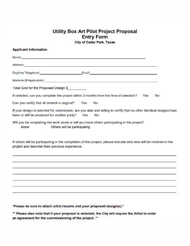 art pilot project proposal