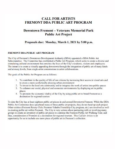 art program project proposal