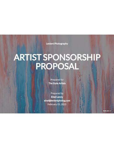 artist sponsorship proposal