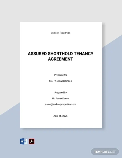 assured shorthold tenancy agreement template