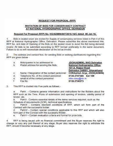 bid invitation contract proposal