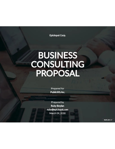 business consulting proposal